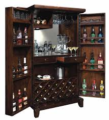 Distressed Wood Bar Cabinet Howard Miller 695122 Rogue Hide A Bar Wine Spirits Storage Cabinet