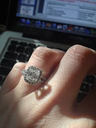 2 carat cushion cut engagement ring pictures pls calling all radiant cushion cut ring owners