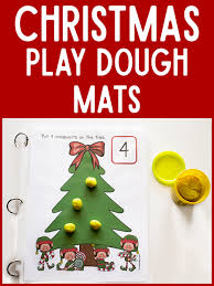 christmas tree play dough math mats prekinders