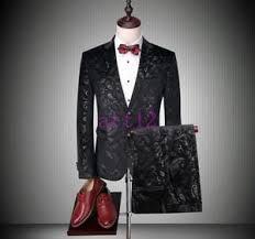 vogue men dress formal top blazer floral print bar jacket pant