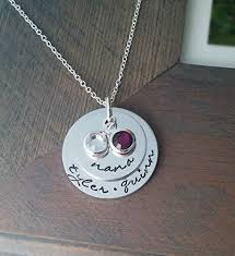 grandkids necklace personalized jewelry necklace for nana or