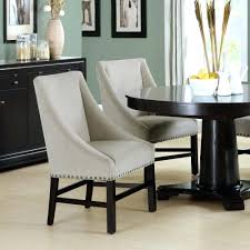 dining chairs with nailheads microfiber grey tufted izable gray