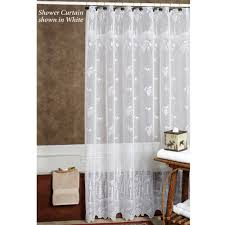 Bathroom Tier Curtains Pine Cone Lace Tier Window Treatment