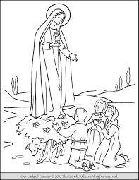 our lady of fatima coloring page mary the catholic kid