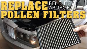 how to replace pollen filters bentley arnage youtube