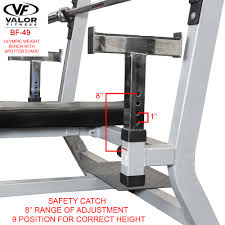 Weight Bench Olympic Bf 49 Olympic Weight Bench With Spotter Stand Valor Fitness