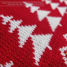knitted christmas sonic the hedgehog unisex knitted christmas sweater jumper merchoid