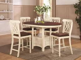 Cherry Wood Dining Room Tables addison white and cherry wood pub table set steal a sofa