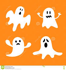 cute happy halloween images funny flying ghost set different emotions face happy halloween