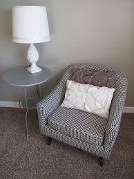 bathroom amazing decorated houndstooth chair with unique pillow