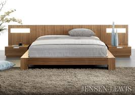 bed with nightstands attached andes acacia cb2 ikea frame