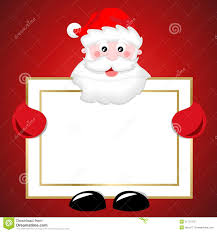 santa claus holding blank banner christmas sign royalty free stock