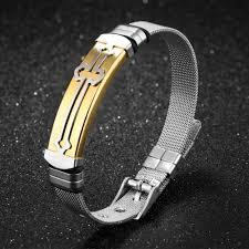 bracelet mesh images Crosstees classic cross bracelet adjustable watch band web mesh jpg
