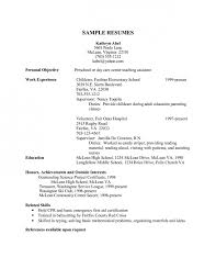 Sample Resume For Daycare Worker by Cover Letter Child Care Resume Samples Infant And Child Care