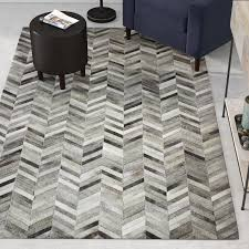 trent austin design wright cow hide grey area rug u0026 reviews wayfair