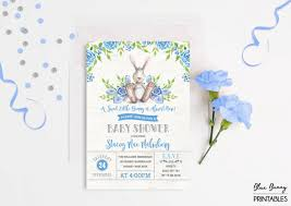 rabbit baby shower bunny baby shower invitation rabbit baby shower invite baby boy