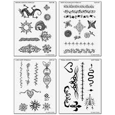 temporary black tattoo design stencils for earth jagua body art kits