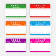 color name tags with shadow vector clipart image 12773 u2013 rfclipart