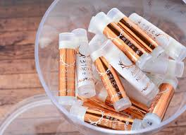 rustic wedding favors 25 metallic wedding lip balm favors rustic wedding chapstick
