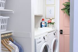 Laundry Room Shelves And Storage by Prescott View Home Reno Laundry Room Makeover Classy Clutter