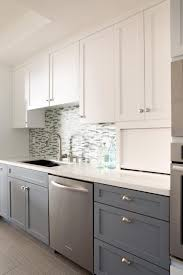 Galley Kitchen Cabinets Kitchen Room Design Breathtaking Two Toned Galley Kitchen