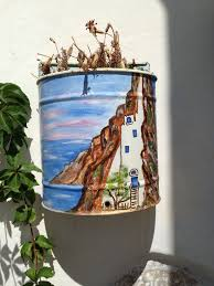 Wall Mounted Planters by Painted Tins For Wall Mounted Planters Amorgos Cyclades Greek