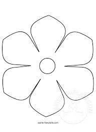flower template paper rose printable templates printable paper