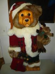 wooden faced teddy bears ebluejay large christmas dan teddy wooden holding