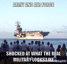 Shocked Computer Meme - warning graphic image what the real military looks like navy