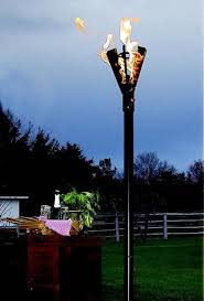 fin style natural gas tiki torches permanent mount fine u0027s gas