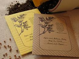 seed packets wedding favors ideas for eco friendly wedding favors
