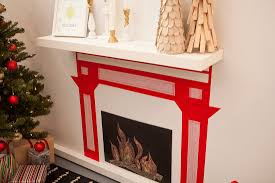 no fireplace no problem make one out of washi tape brit co