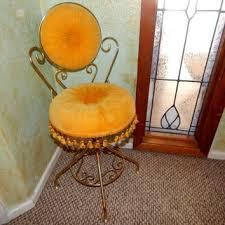 Velvet Vanity Chair Vanity Table Swivel Chair Golden Yellow From Springjewelrythings