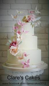 butterfly wedding cake ivory 3 tier wedding cake with royal iced