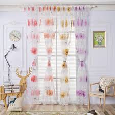 Yellow And Purple Curtains Small Fresh Cloth Pastoral Curtain For Living Room Bedroom