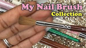 nail brush collection longhairprettynails youtube