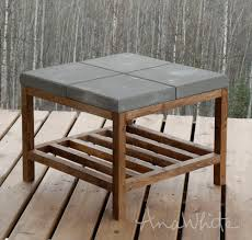 concrete outdoor side table diy concrete top outdoor coffee table fixthisbuildthat within diy