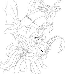 Discord And The Sisters Coloring Page By Unknowncolt On Deviantart Coloring Pages Kpop