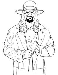 wwe coloring picture