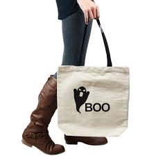halloween totes ghost silhouette funny boo spooky halloween tote handbag shoulder