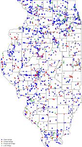 State Map Of Illinois by Bridgehunter Com Map Of Illinois Bridges