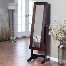 Where To Buy A Jewelry Armoire Modern Jewelry Armoire Cheval Mirror Espresso Hayneedle