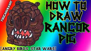 draw rancor pig angry birds star wars youcandrawit