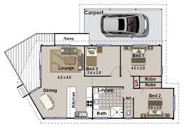 3 bed floor plan with carport 3 bedroom house plans pinterest
