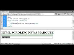 Html Scrollable Table Html Scrolling News Text Marquee Youtube