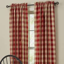 farmhouse curtains wicklow barn red lined panels 63