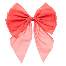 bow hair jumbo coral chiffon bow hair clip s