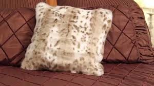 Faux Fur Throw Pillow Learn How To Make A Faux Fur Pillow Cover Youtube