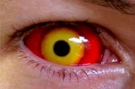 uv yellow halloween contact lenses for all eyes aqua cat eye