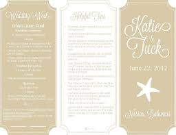 destination wedding itinerary ceremony programs guestbooks invitations menu cards place